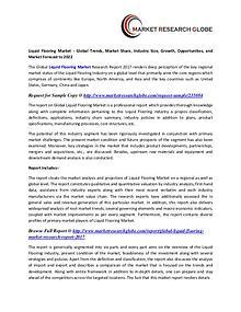 Liquid Flooring Market 2022 - Industry Survey, Market Size