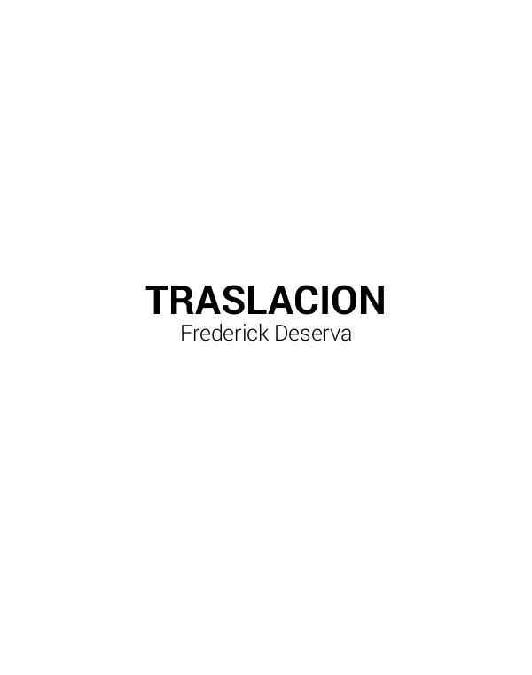 Frederick Deserva Documentation of Traslacion 2015-2017