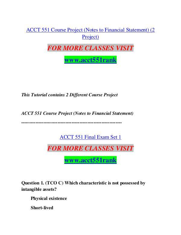 ACCT 551 RANK Motivated Minds/acct551rank.com ACCT 551 RANK Motivated Minds/acct551rank.com