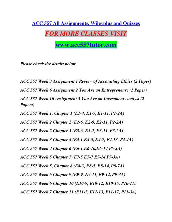 ACC 557 TUTOR Motivated Minds/acc557tutor.com ACC 557 TUTOR Motivated Minds/acc557tutor.com