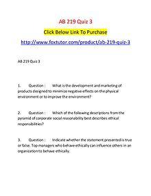 AB 219 Quiz 3