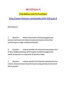 AB 219 Quiz 4
