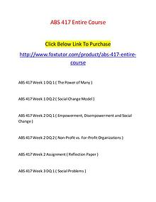 ABS 417 All Assignments