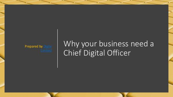 Digile Innovation Magazine Why your business need a Chief Digital Officer