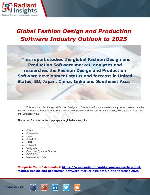 Market Forecasts And Industry Analysis Global Fashion Design And Production Software Indu Joomag Newsstand