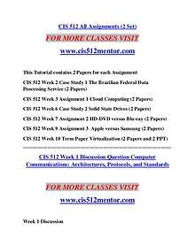 CIS 512 MENTOR creative knowledge /cis512mentor.com