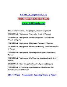 CIS 515 STUDY creative knowledge /cis515study.com