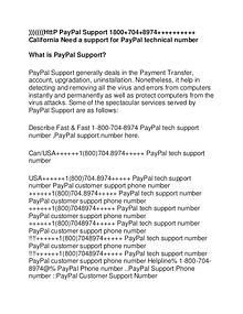 PayPal Support Number
