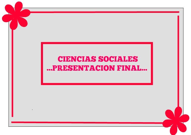 CIENCIAS SOCIALES COMPETENCIAS CIUDADANAS
