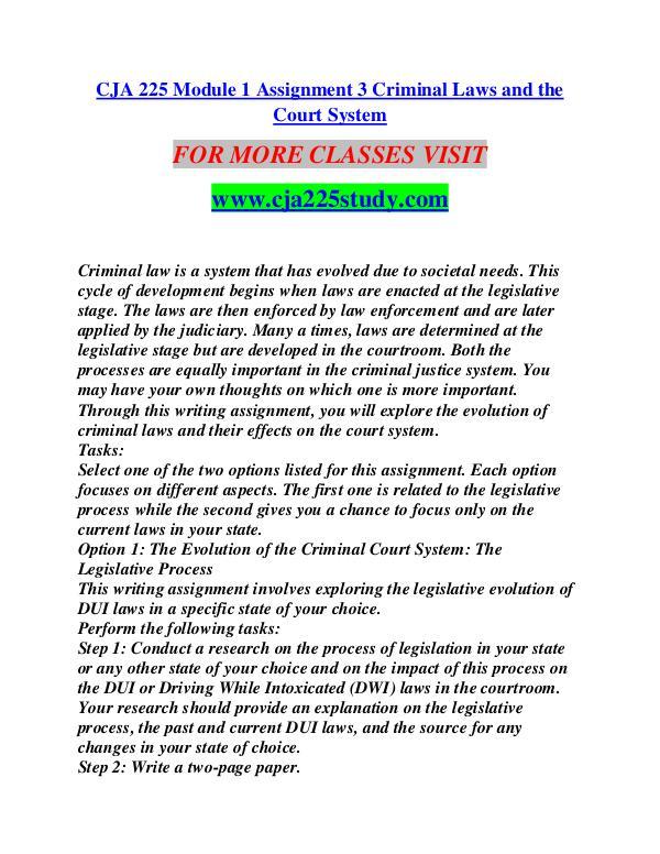CJA 225 STUDY creative knowledge /cja225study.com CJA 225 STUDY creative knowledge /cja225study.com