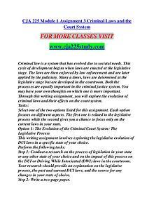 CJA 225 STUDY creative knowledge /cja225study.com