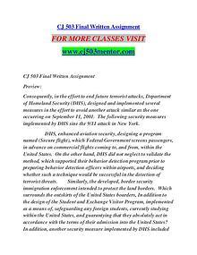 CJ 503 MENTOR creative knowledge /cj503mentor.com