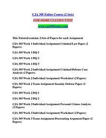 CJA 305 STUDY creative knowledge /cja305study.com