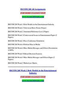 BSCOM 268 STUDY Great Stories Here/bscom268study.com