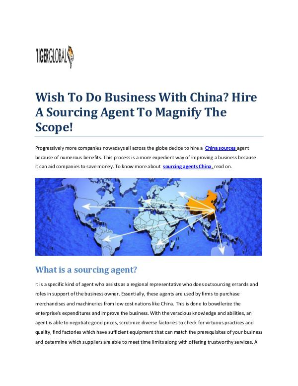 Tiger Global Ltd - Importing From China To UK Tiger Global - Want To Know About China Sourcing