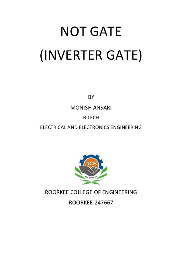 Digital logic, an Inverter or NOT gate Digital logic, an Inverter or NOT gate