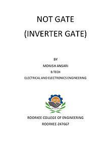 Digital logic, an Inverter or NOT gate