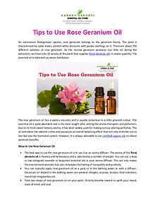 Tips to Use Rose Geranium Oil
