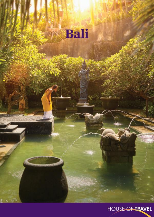 House of travel Bali Brochure 2017