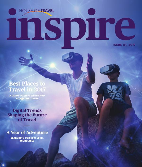 House of travel Inspire magazine march