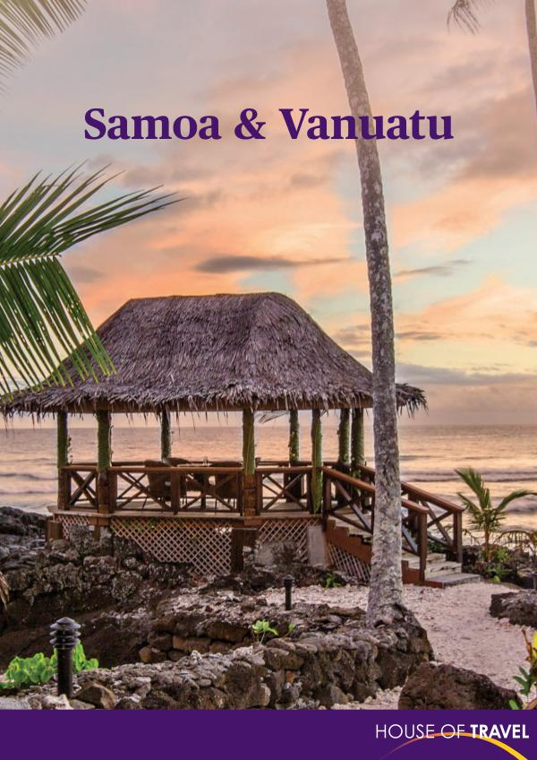 House of travel Samoa & Vanuatu Brochure 2017