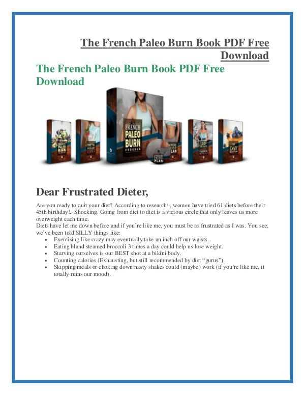 The French Paleo Burn PDF Free Download The French Paleo Burn  PDF Free Download