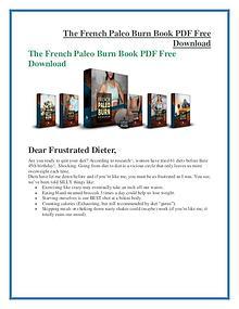 The French Paleo Burn PDF Free Download
