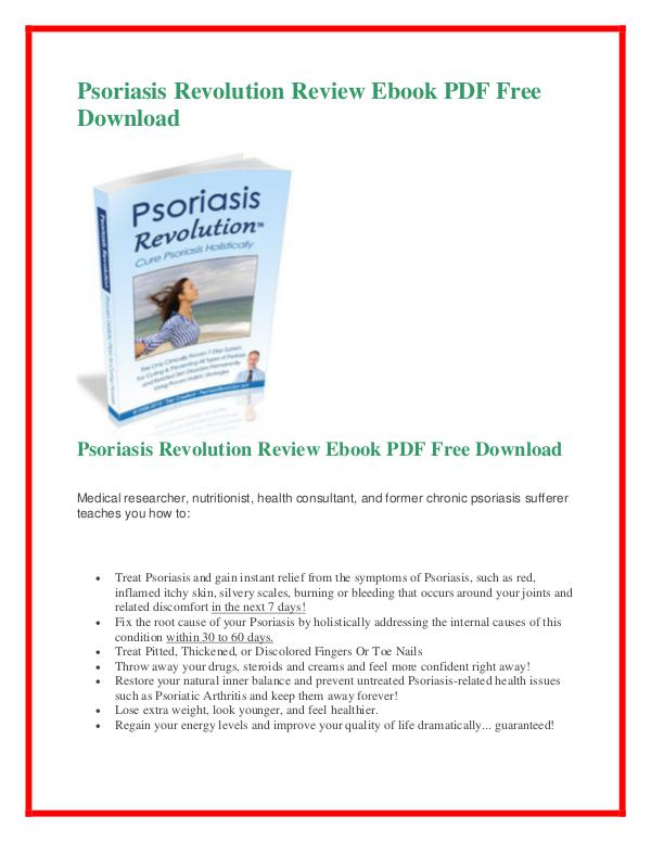 Dan Crawford: Psoriasis Revolution PDF free download Psoriasis Revolution PDF Free Download
