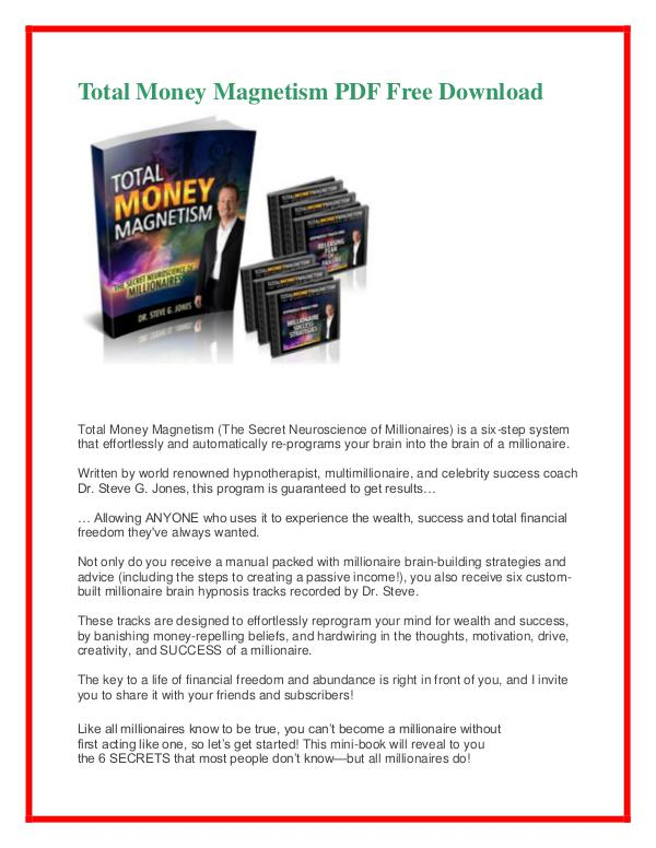 Total Money Magnetism Pdf Free Download Total Money Magnetism Pdf