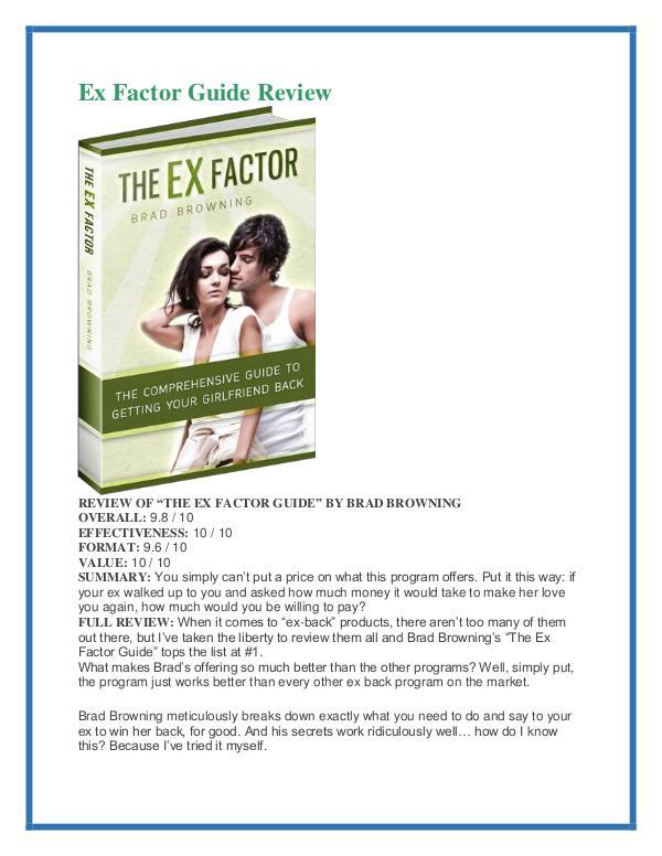Ex factor guide members login