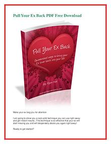 Ryan Hall: Pull Your Ex Back PDF Free Download