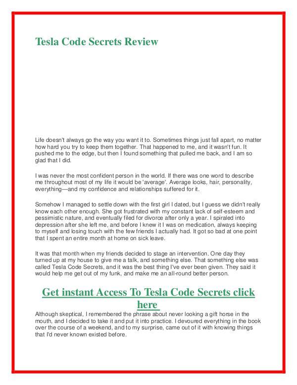 Tesla Code Secrets PDF Book Alex West Free Download Tesla Code Secrets PDF FREE Download