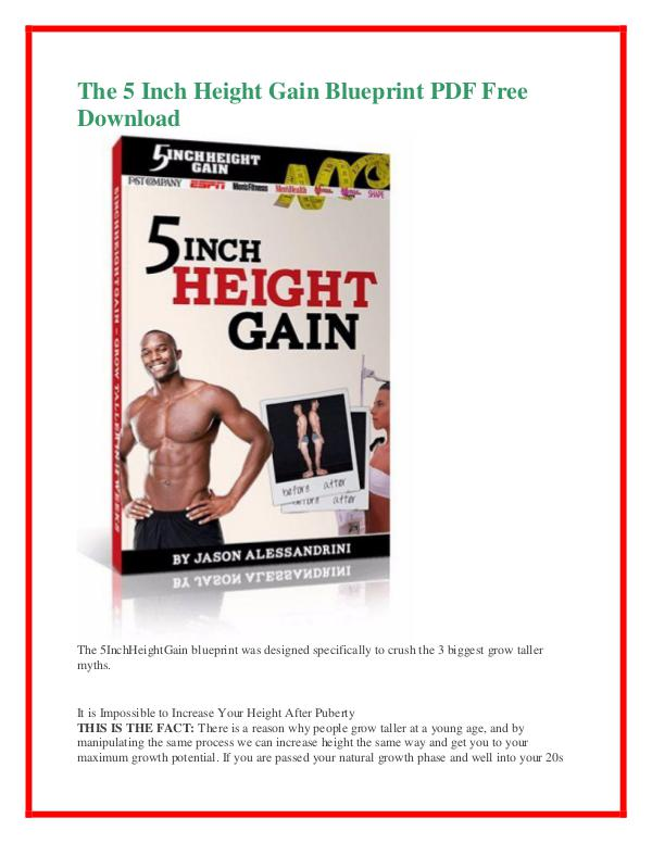 Jason Alessandrini:The 5 Inch Height Gain Blueprint PDF Free