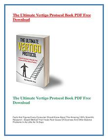 The Ultimate Vertigo Protocol PDF Free Download