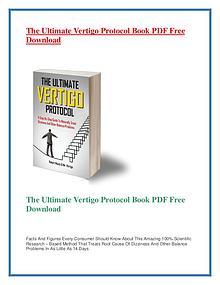 The Ultimate Vertigo Protocol PDF Free Download