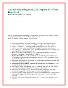 Anabolic Running PDF Free Download