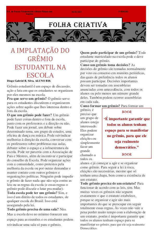 Folha Criativa JORNAL