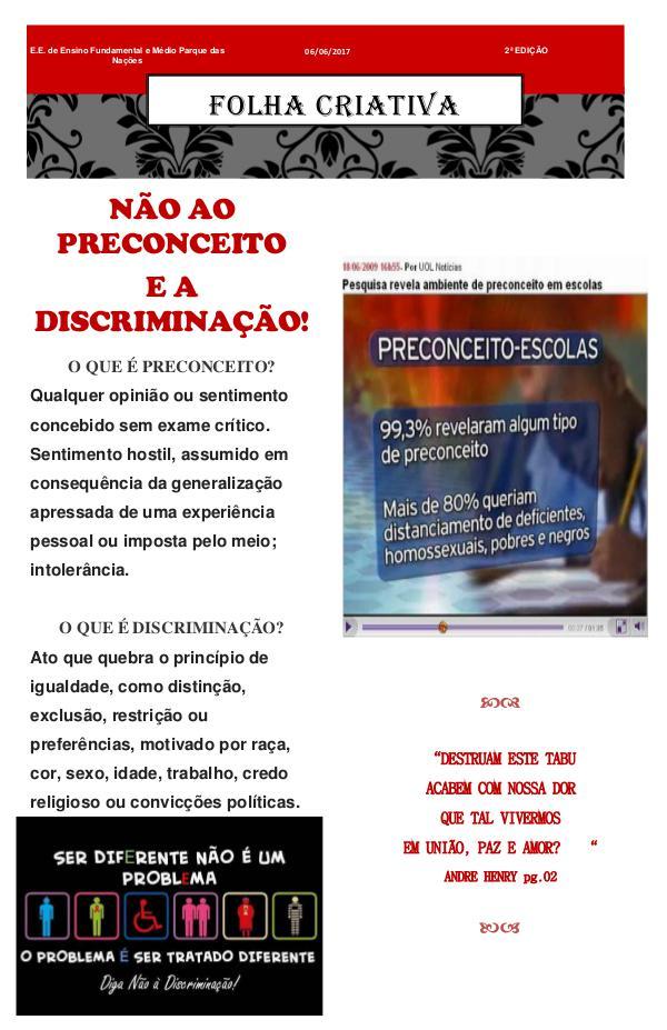 Folha Criativa JORNAL 2ª edição