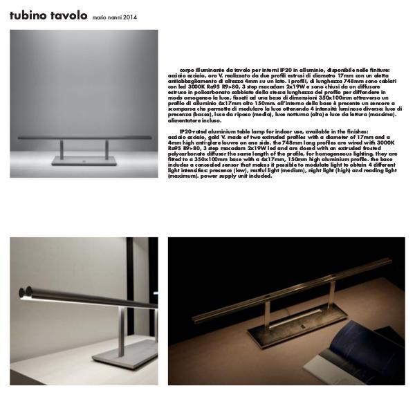 Viabizzuno by Cirrus Lighting - Architectural Lighting Range Tubino Tavolo by Cirrus Lighting