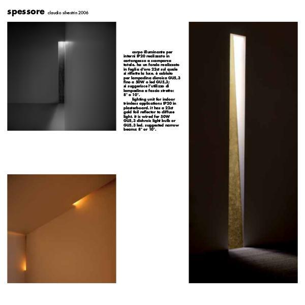 Viabizzuno by Cirrus Lighting - Architectural Lighting Range Spessore Recessed Wall Light by Cirrus Lighting