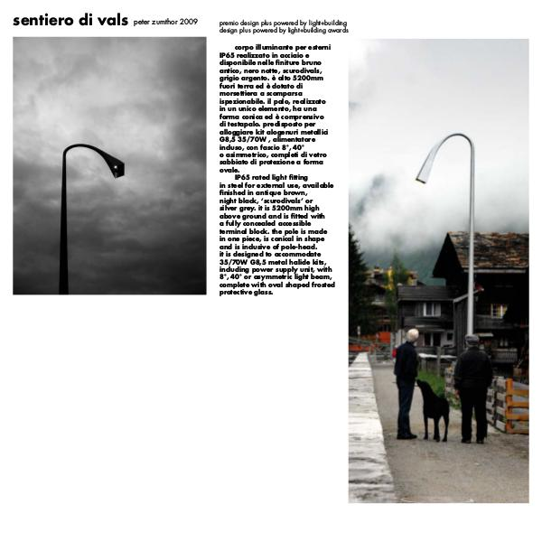 Viabizzuno by Cirrus Lighting - Architectural Lighting Range Sentiero Di Vals Street Light by Cirrus Lighting