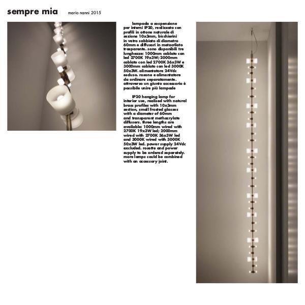 Viabizzuno by Cirrus Lighting - Architectural Lighting Range Sempre Mia by Cirrus Lighting