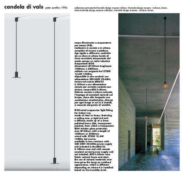 Viabizzuno by Cirrus Lighting - Architectural Lighting Range Candela Di Vals by Peter Zumthor