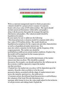 A CORPORATE MANAGEMENT REPORT / TUTORIALOUTLET DOT COM