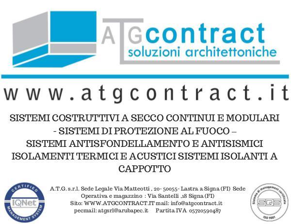 pareti mobili - controsoffitti - bagni componibili BROCHURE REFERENZE ATG CONTRACT SRL -