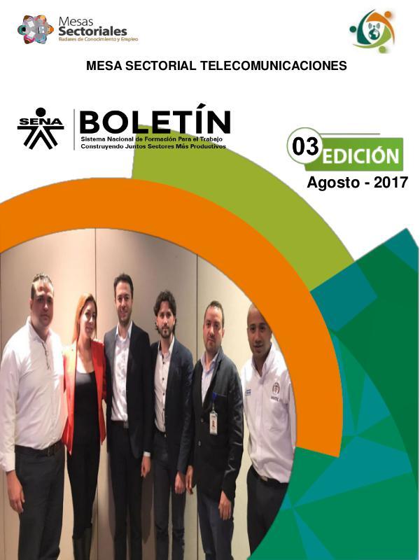 Boletín # 03 Mesa Sectorial Telecomunicaciones Boletin 03 Mesa Sectorial Telecomunicaciones