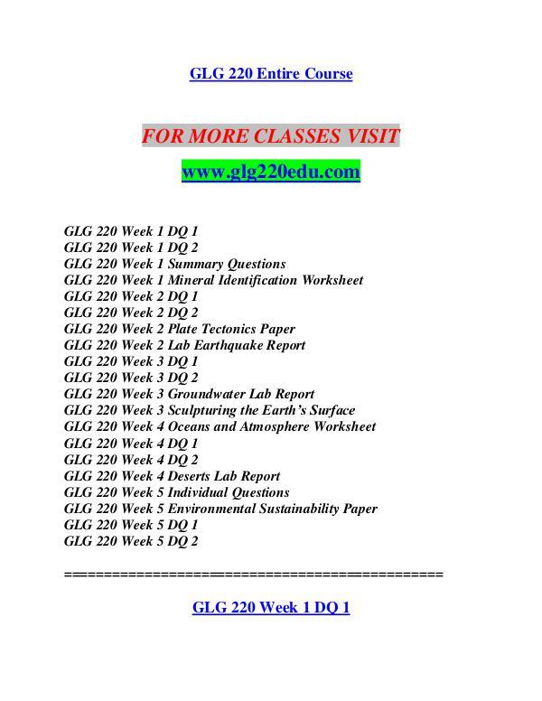 GLG 220 EDU Let's Do This /glg220edu.com GLG 220 EDU Let's Do This /glg220edu.com