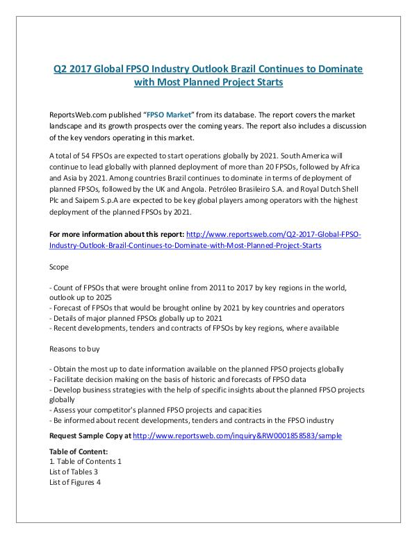 ReportsWeb- Q2 2017 Global FPSO Industry Outlook Brazil