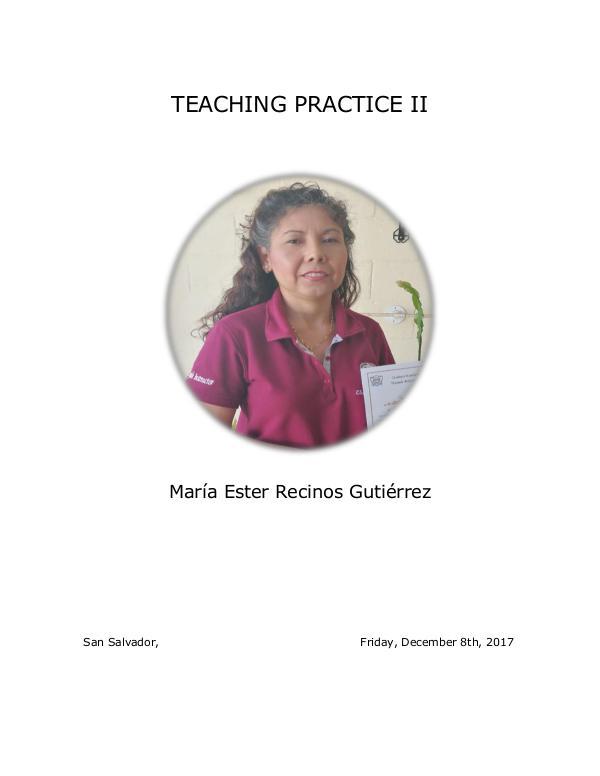 My portfolio teaching practice 2 training