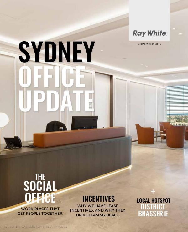 Sydney Office Update November Edition